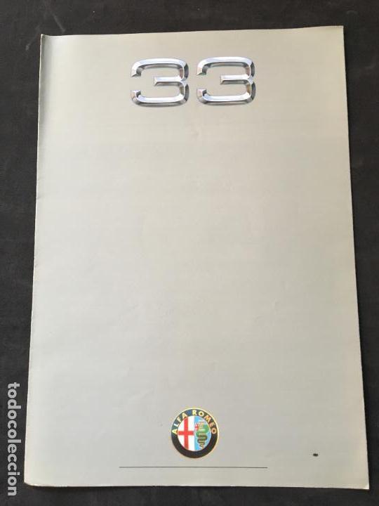 FOLLETO CATALOGO PUBLICIDAD ORIGINAL ALFA ROMEO 33 AÑOS 80 (Coches y Motocicletas Antiguas y Clásicas - Catálogos, Publicidad y Libros de mecánica)