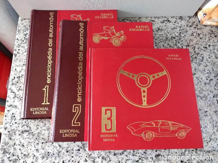 Coches y Motocicletas: ENCICLOPEDIA DEL AUTOMÓVIL.RAFAEL ESCAMILLA.EDITORIAL LINOSA. AÑO 1969. OBRA COMPLETA 3 TOMOS - Foto 2 - 120432891