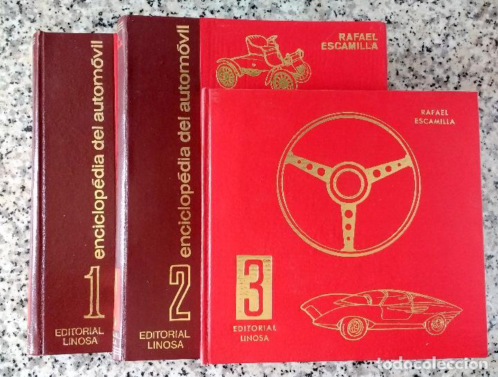 Coches y Motocicletas: ENCICLOPEDIA DEL AUTOMÓVIL.RAFAEL ESCAMILLA.EDITORIAL LINOSA. AÑO 1969. OBRA COMPLETA 3 TOMOS - Foto 3 - 120432891
