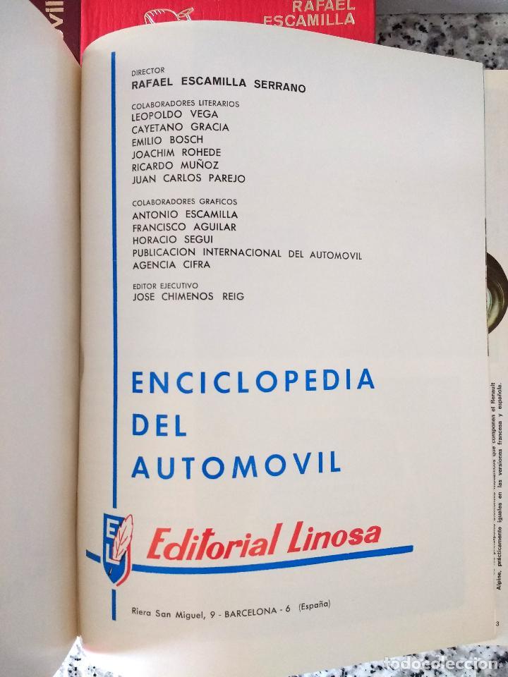 Coches y Motocicletas: ENCICLOPEDIA DEL AUTOMÓVIL.RAFAEL ESCAMILLA.EDITORIAL LINOSA. AÑO 1969. OBRA COMPLETA 3 TOMOS - Foto 11 - 120432891