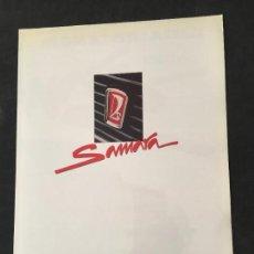 Coches y Motocicletas - Folleto catalogo publicidad original lada samara 1500 cc 1991 - 120527539