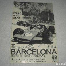 Coches y Motocicletas: V GRAN PREMIO BARCELONA FORMULA II , TROFEO SEAT , 25/26 ABRIL 1970 .. Lote 120693291