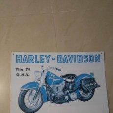 Coches y Motocicletas: ANTIGUA CHAPA METÁLICA DE PUBLICIDAD HARLEY DAVIDSON. Lote 120761727