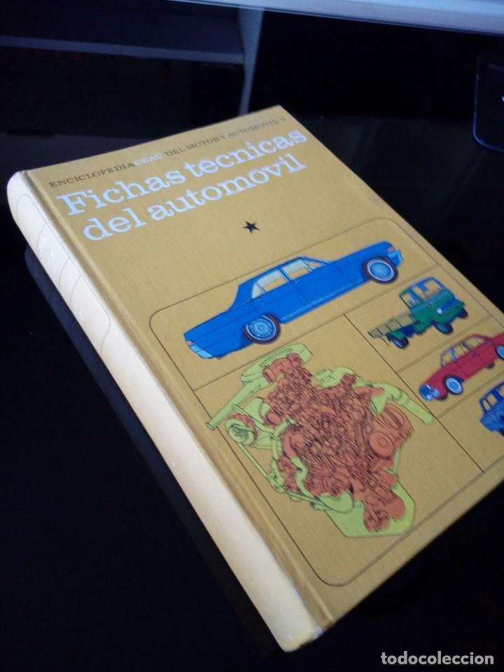 FICHAS TECNICAS DEL AUTOMOVIL. ENCICLOPEDIA CEAC. TOMO 11 (Coches y Motocicletas Antiguas y Clásicas - Catálogos, Publicidad y Libros de mecánica)
