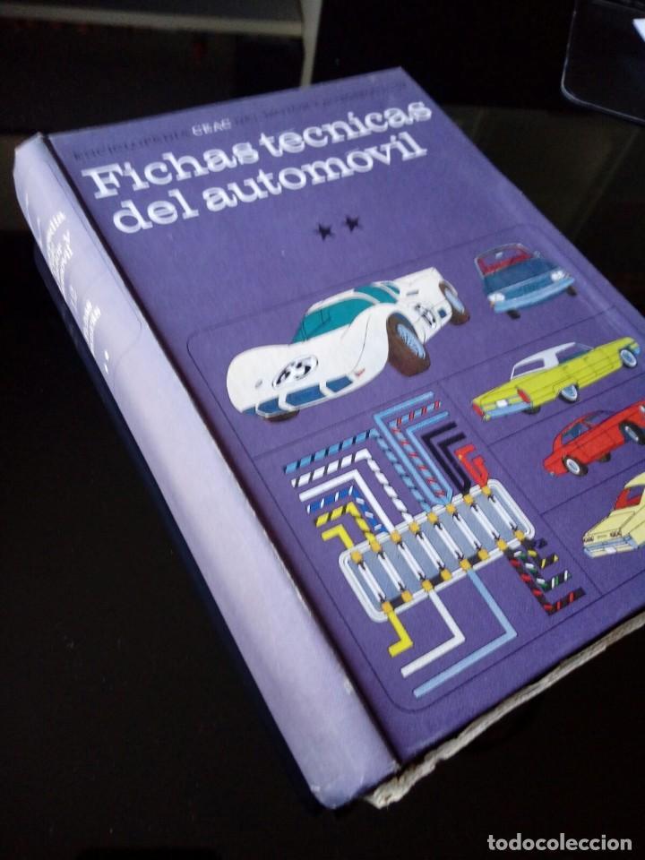 FICHAS TECNICAS DEL AUTOMOVIL. ENCICLOPEDIA CEAC. TOMO 12 (Coches y Motocicletas Antiguas y Clásicas - Catálogos, Publicidad y Libros de mecánica)