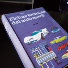 Coches y Motocicletas: FICHAS TECNICAS DEL AUTOMOVIL. ENCICLOPEDIA CEAC. TOMO 12. Lote 120849883