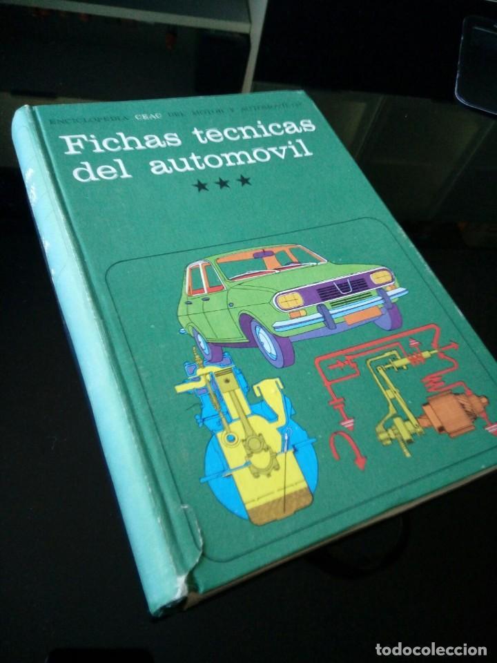FICHAS TECNICAS DEL AUTOMOVIL. ENCICLOPEDIA CEAC. TOMO 13 (Coches y Motocicletas Antiguas y Clásicas - Catálogos, Publicidad y Libros de mecánica)