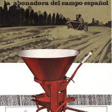 Coches y Motocicletas: FOLLETO PUBLICITARIO Y DE CARACTERISTICAS DE LA ABONADORA AGUIRRE - TAFALLA TRACTOR. Lote 121026259