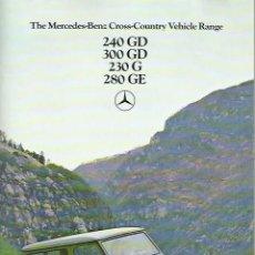 Coches y Motocicletas: MERCEDES-BENZ 240 GD, 300 GD, 230 G, 280 GE TODO TERRENO, PRECIOSO CATÁLOGO 54 PÁGINAS, EN INGLÉS. Lote 121109283