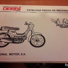 Coches y Motocicletas: CATÁLOGO PIEZAS DE RECAMBIO DERBI SLE X. 1995. Lote 143973068
