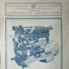 Coches y Motocicletas: CATÁLOGO EN ESPAÑOL DE CAMIONES ACLO FABRICADOS EN INGLATERRA POR AEC. 1931.. Lote 121545311