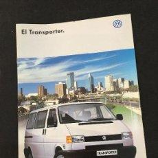 Coches y Motocicletas: FOLLETO CATALOGO PUBLICIDAD ORIGINAL VOLKSWAGEN EL TRANSPORTER 1998. Lote 121586959