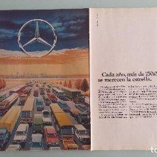 Coches y Motocicletas: DOBLE HOJA PUBLICITARIA MERCEDES BENZ. Lote 121883619