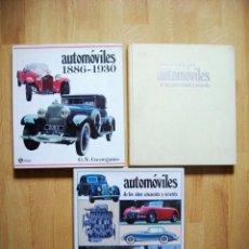 Coches y Motocicletas: AUTOMOVILES DE LOS AÑOS 1886-1930, TREINTA CUARENTA Y CINCUENTA SESENTA. MICHAEL SEDGWICK, 3 TOMOS. Lote 121924147