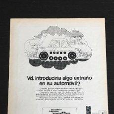 Coches y Motocicletas: RECAMBIOS ORIGINALES SEAT - ANUNCIO PUBLICIDAD REVISTA RECORTE - NO 600 850 1430 124 127 128 131 132. Lote 122168099