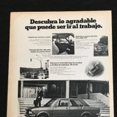 Coches y Motocicletas: SEAT 132 - ANUNCIO PUBLICIDAD REVISTA RECORTE - NO 600 850 1500 1400 1430 128 127 131 133 SPORT. Lote 122168939