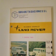 Coches y Motocicletas: LAND ROVER SANTANA 88 109 MANUAL DE PIEZAS DE RECAMBIO IMPECABLE 1981. Lote 122170831