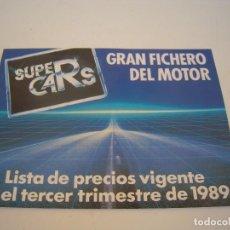 Coches y Motocicletas: LISTA DE PRECIOS DE COCHES Y MOTOS VIGENTE 1989. Lote 122173055