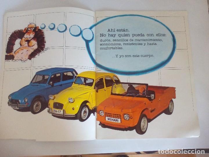Coches y Motocicletas: Propaganda de Citroen 2 CV Dyane 6 y Mehari = - Foto 2 - 122179031