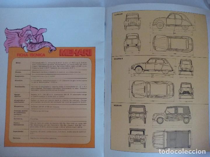 Coches y Motocicletas: Propaganda de Citroen 2 CV Dyane 6 y Mehari = - Foto 7 - 122179031