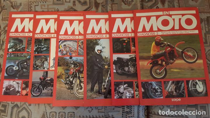 LOTE DE 18 FASCICULOS DE LA COLECCION EN MOTO DE SARPE VINTAGE 1985 (Coches y Motocicletas Antiguas y Clásicas - Catálogos, Publicidad y Libros de mecánica)