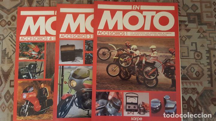 Coches y Motocicletas: LOTE DE 18 FASCICULOS DE LA COLECCION EN MOTO DE SARPE VINTAGE 1985 - Foto 2 - 122191923