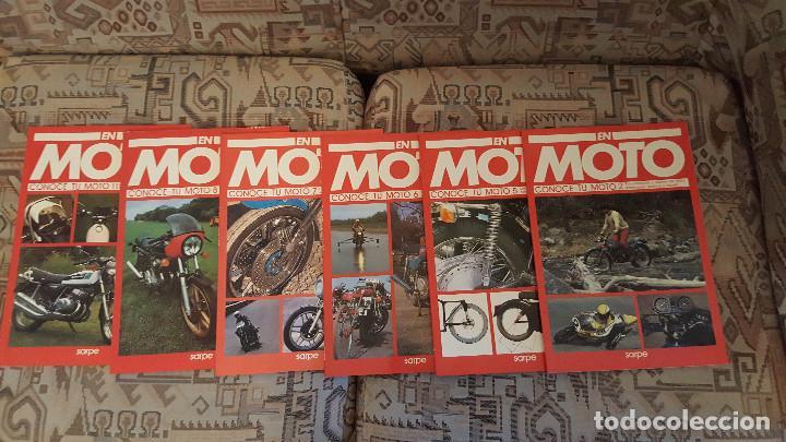 Coches y Motocicletas: LOTE DE 18 FASCICULOS DE LA COLECCION EN MOTO DE SARPE VINTAGE 1985 - Foto 5 - 122191923