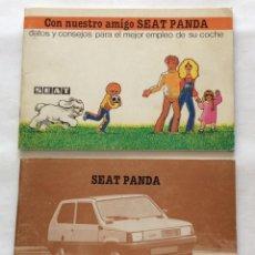Coches y Motocicletas: DOS CATALOGO MANUAL DE USO E INSTRUCCIONES. SEAT PANDA. 1981.. Lote 122201659