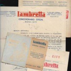 Coches y Motocicletas: CONCESIONARIO OFICIAL * LAMBRETTA - MOTO CITY * AÑOS 1959 -1960. Lote 122221235