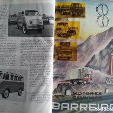 Coches y Motocicletas: CATÁLOGO GENERAL DE AUTOMÓVILES DEL AÑO 1960,EDITORIAL ROMERO REQUEJO S.L. MADRID CATÁLOGO GENERAL . Lote 122229967