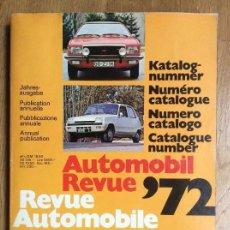 Coches y Motocicletas: AUTOMOBIL REVUE 72 REVUE AUTOMOBILE 72. Lote 122269299