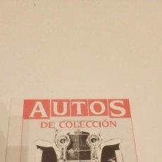Coches y Motocicletas: AUTOS DE COLECCION EDITORIAL PLANETA DE AGOSTINI PORTADA . Lote 122608539
