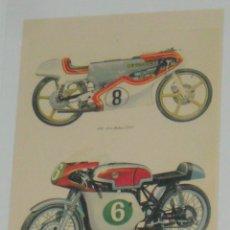 Coches y Motocicletas: LOTE 6 CARTELES MOTOCICLETAS CARRERAS COMPETICION CLASICAS BULTACO DUCATI MV HONDA ..... Lote 143371594