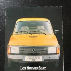 Coches y Motocicletas: SEAT 127 FURA - CATALOGO PUBLICIDAD ORIGINAL - NO 850 124 128 600 131 132 133 1430 RONDA PANDA. Lote 122804479