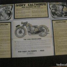 Coches y Motocicletas: CALTHORPE MOTOR CYCLE CO.-CATALOGO-MOTOS AÑO 1930 -VER FOTOS-(V-14.731). Lote 122804527