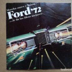 Coches y Motocicletas: CATALOGO DE FORD DE 1972.MIGARAGE SL MADRID.BUEN ESTADO VER FOTOS. Lote 122909019