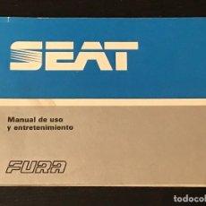 Coches y Motocicletas: SEAT 127 FURA L GL - MANUAL USUARIO ORIGINAL - NO CATALOGO LIBRO FOLLETO 600 850 128 133 124. Lote 122996107