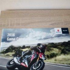 Coches y Motocicletas: CATÁLOGO SUZUKI GAMA CARRETERA 2016 - 27 PÁGINAS. Lote 123015939