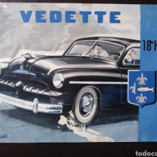 Coches y Motocicletas: CATÁLOGO FORD VEDETTE 18 HP. Lote 124055640
