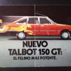 Coches y Motocicletas: CATÁLOGO TALBOT 150 GT 1980. Lote 124059044