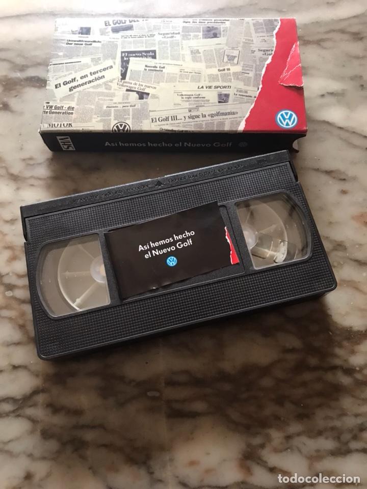 CINTA VHS VOLKSWAGEN GOLF MK3 III ASI HEMOS HECHO EL NUEVO GOLF (Coches y Motocicletas Antiguas y Clásicas - Catálogos, Publicidad y Libros de mecánica)