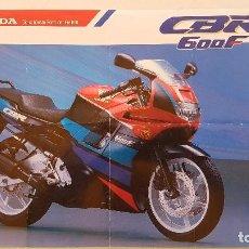 Coches y Motocicletas: FOLLETO PUBLICITARIO HONDA CBR600F (ALEMÁN). Lote 124291527
