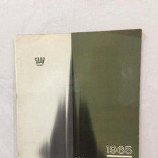 Coches y Motocicletas: SAAB ANUARIO 1965 AVIONES MISILES CATALOGO ORIGINAL. Lote 133528582