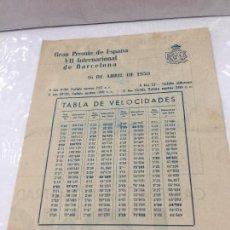 Coches y Motocicletas: GRAN PREMIO DE ESPAÑA VII DE BARCELONA 1950 MONTJUICH NORTON PIRELLI. Lote 124406523
