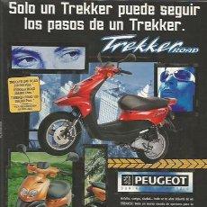 Coches y Motocicletas: HOJA DE PUBLICIDAD PEUGEOT TREKKER. Lote 124436167