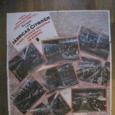 Coches y Motocicletas: CITROEN FABRICAS - DESPLEGABLE PUBLICIDAD-25.000 OBREROS 15.000 MAQUINAS -VER FOTOS-(V-14.824) . Lote 124450439