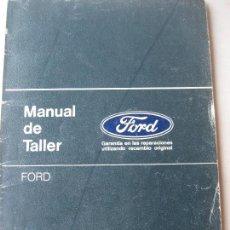 Coches y Motocicletas: FORD. 1986. MANUAL DE TALLER. FORD FIESTA, ESCORT - ORION. Lote 124471583