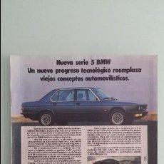 Coches y Motocicletas: HOJA PUBLICIDAD BMW SERIE 5. Lote 124587959