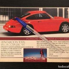 Coches y Motocicletas: PORSCHE 911 CARRERA 4 SPEEDSTER PORSCHE ESPAÑA - RECORTE PRENSA REVISTA ANUNCIO PUBLICIDAD. Lote 124675967