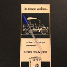 Coches y Motocicletas: REPSOL LATA ACEITE LUBRICANTES - RECORTE PRENSA REVISTA ANUNCIO PUBLICIDAD. Lote 124677363
